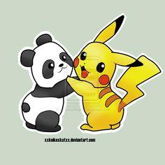 Pikachu Drawings Panda Hug By Xxkeikoxkatxx Manga Anime