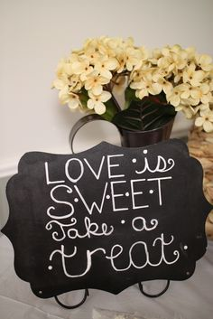 Shabby Chic Bridal Shower Party sign! See more party ideas at CatchMyParty.com