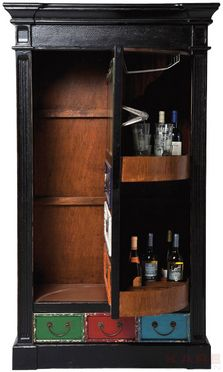 Kare Harlekin taberna display cabinet green 2 doors kare der absolute wohnsinn