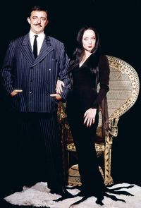 vintagegal: The Addams Family, 1960s The Addams Family 1964, Addams Family Tv Show, Addams Family Costumes, Adams Family, Gomez Addams Family, Couple Costumes, Dark Beauty, Morticia And Gomez Addams, Morticia Addams Costume