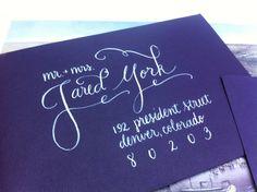 Custom Modern Calligraphy Envelopes - Weddings & Events. $4.00, via Etsy.