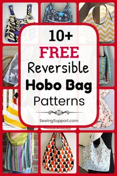 Eleven free reversible hobo bag and purse patterns, tutorials, and diy sewing projects. Slouchy fabric bags easy enough for beginners to sew. How to make a reversible hobo bag. Source by sewingsupport bags Bag Pattern Free, Sewing Patterns Free, Wallet Pattern, Tote Pattern, Diy Sewing Projects, Sewing Projects For Beginners, Sewing Tutorials, Hobo Bag Tutorials, Hobo Bag Patterns
