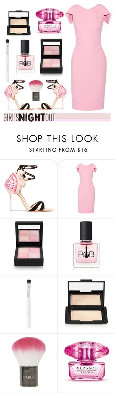 """""""Girls Night Out"""" by hellodollface ❤ liked on Polyvore featuring beauty, Sophia Webster, Antonio Berardi, Givenchy, RGB Cosmetics, Kjaer Weis, NARS Cosmetics, Topshop, Versace and GNO"""