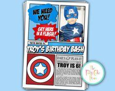 Super Hero Party invite