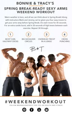 Spring Break is just over a month away. Try this Weekend Workout to get your arms toned and sexy.
