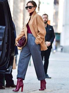 Street Style: Casual Chic Casual Look (Casual Chic) Herbst / Winter Damenhose - Tendances Mode 2018 - Looks Casual Chic, Looks Chic, Looks Style, Office Outfits, Mode Outfits, Casual Outfits, Fashion Outfits, Womens Fashion, Office Attire