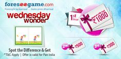 http://www.foreseegame.com/play-games/Spot-It/350cde775adb10c6  - Even Wednesdays can be made special by getting exciting offers. So win rewards and gifts at Foreseegame.com