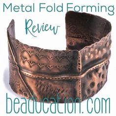 Carolyn took Kim St. Jean's Metal Fold Forming class and laved it so much she left us this lovely review! What wonderful and well presented information. Thank you so much! I am new to metal folding & having an exciting time experimenting with it.