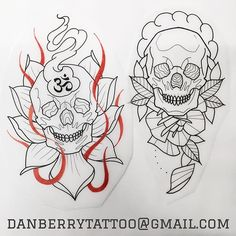 WEBSTA @ danb_tattoo - I have these two drawn up and will do a good price as I'd love to do either of them. I have limited space next week, email danberrytattoo@gmail.com for details @custompropagandatattoo  #tattoo #tattoos #tattooed #tattooer #southampton #tattooartist #tattooart #tattooflash #traditionaltattoo #traditionaltattooflash #neotrad #neotradtattoo #neotraditional #neotraditionaltattoo #neotraditionaltattoos #custompropaganda #flowertattoo #tradtattooflash #skulltattoos…