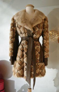 Vintage Mink Coat // Vintage 70s Patchwork Mink by xtabayvintage, $398.00