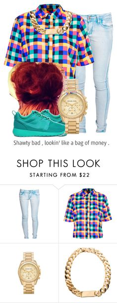 """""""Untitled #103"""" by yungd ❤ liked on Polyvore featuring Boohoo, Topshop, NIKE, Michael Kors, women's clothing, women's fashion, women, female, woman and misses"""