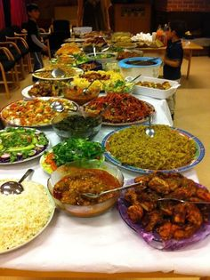 Traditional This platter of food, that is laid out on this huge table has some of the most f..., ,