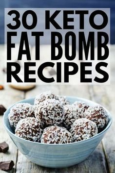 30 Keto Fat Bomb Recipes | Looking for easy low carb energy boosters? Whether you're new to the ketogenic diet or just need fresh pre- and post-workout snack ideas, these sweet and savory fat bombs are for you! Using ingredients like peanut butter, chocolate, coconut oil, and cream cheese, weight loss has never tasted so good. We've even included a few dairy-free energy options! #fatbomb #fatbombrecipes #keto #ketogenic #ketosis #ketodiet #ketogenicdiet #ketorecipes #weightloss