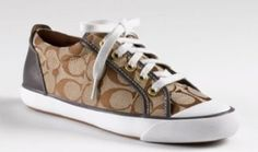 COACH Barrett Signature Jacquard Sneaker Womens Shoes Brown Size 9  Coach