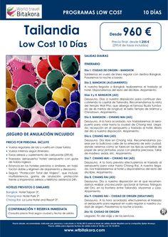 ¡Precios anticrisis! TAILANDIA Low Cost: 10 días, desde 960 € + tasas - http://zocotours.com/precios-anticrisis-tailandia-low-cost-10-dias-desde-960-e-tasas/