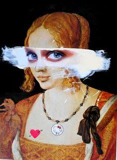 "Saatchi Online Artist Loui Jover; Collage, ""Durer's mistress"" #art"