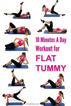 10 Minutes A Day Workout for Flat Tummy - Fitness Quick Morning Workout, Morning Workout Motivation, Morning Workout Routine, Morning Workouts, Flat Tummy Workout, Lower Belly Workout, Workout To Lose Weight Fast, Weight Workouts, Fat Burning Workout