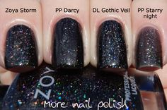 Zoya Storm ; Picture Polish Darcy ; Dance Legend Gothic Veil ; Picture Polish Starry Night ; 6/6/14