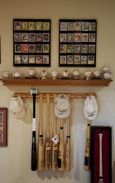 Baseball card display. Brilliant way to show off all your signed memorabilia in one place!