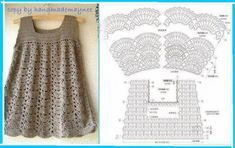 patrones de vestidos tejidos a crochet para niña