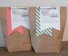 Geschenke für Frauen - Wellness in der Tüte - ein Designerstück von Papeteriewithlove bei DaWanda