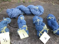 A tutorial on dyeing wool blue with black beans (you read that right, black beans).