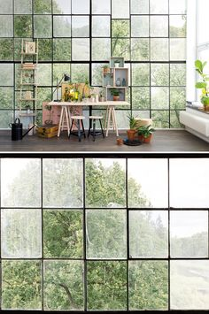 WALL MURAL | WALLPAPER | GREEN | DISCOVER | BUILDING | CURIOUS | EXPLORE | EXPLORER | TORN-DOWN | TREASURE HUNT | SECRET PLACES | MYSTERIOUS SPACES | ODD | BEAUTIFUL | PHOTO WALL MURAL | LUSH | PLANTS | WINDOWS | GROWN WILD | OVERGROWTH