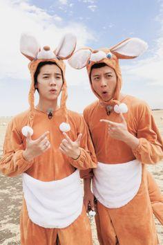 luhan and deng chao Keep Running, Running Man, Ancient Armor, Angelababy, Chinese Boy, Luhan, Boy Bands, Bikinis, Swimwear