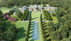 Plans have been unveiled for a £60 million 'mega-mansion' which will be more than 45 times the size of the average new home