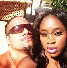 Jon Fatu (Jimmy Uso) & his fiance Trinity McCray (Naomi)
