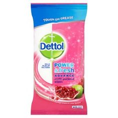 Dettol Power & Fresh Antibacterial Multi-Purpose Wipes kills % of germs and leaves your surfaces sparkling clean. Diy Cleaning Products, Cleaning Hacks, Cleaning Wipes, Cleaning Cloths, Cleaning Cupboard, New Home Essentials, Aleo Vera, Perfume, All Purpose Cleaners
