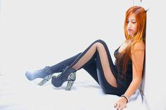 Sheer Leggings Punk Pants Rock n Roll Leggings Mesh by MoLeKuLa