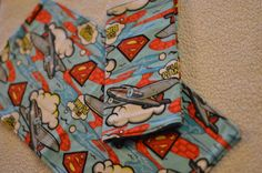 Superman burp cloth diaper bag changing pad by LibrarianMommy, $3.25