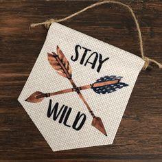 Wall Banner, Zodiac Constellations, Stay Wild, Mini Canvas, Handmade Items, Handmade Gifts, Wall Hangings, Wood Wall, Kids Room