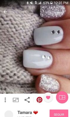 Uñas Nail Polish Trends, Nail Polishes, Nail Trends, Polish Nails, Nail Nail, Gel Manicure Nails, Glitter Manicure, Glitter Eyeshadow, Matte Nails