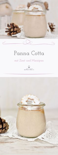 This panna cotta with marzipan and cinnamon is a super delicious dessert for Christmas. This panna cotta with marzipan and cinnamon is a super delicious dessert for Christmas. Kitchen Recipes, Snack Recipes, Dessert Recipes, Recipes Dinner, Yummy Recipes, Keto Recipes, Cinnamon Cream Cheese Frosting, Cinnamon Cream Cheeses, Panna Cotta