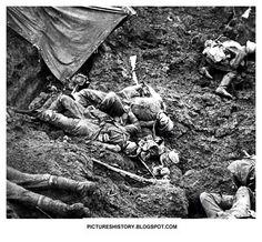 WW1 trench warfare.