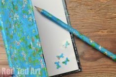 Mother's Day Gift Ideas: Decoupage Notebooks. Get inexpensive notebooks from the Dollar Store or Pound Shop, and decorate it using pretty paper or flowers pictures from a seed catalogue. Be warned, you may have to make 2-3 of these per child, as they are likely to want to keep them!!!