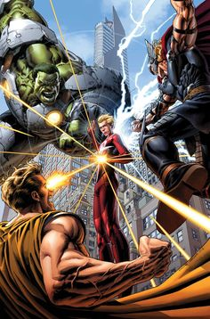 Thor, Hyperion & Indestructible Hulk vs Star Brand   #comics