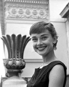 Audrey Hepburn Poses for a Portrait Photo
