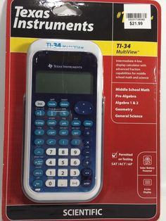 Texas Instruments TI-34 MultiView Scientific Calculator Free Shipping New #TexasInstruments