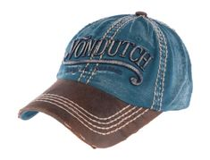 Casquette Von Dutch Retro Bleue Halton Style Retro, Baseball Hats, Mens Fashion, Distressed Leather, Man Women, Blue, Moda Masculina, Baseball Caps