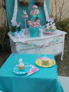 Decoração de Páscoa - mesa    #páscoa #decoraçãodepáscoa