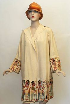 1 of 2: * Applique embroidered Egyptian silk coat, late 1920s, unlabelled. Made for the elite tourist trade, these silk coats were popular purchases on the Grand Tour