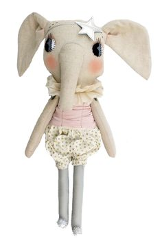 ☃ Plush Toy Preciousness ☃ Cloth and Thread Elodie Elephant // PoppysCloset.com