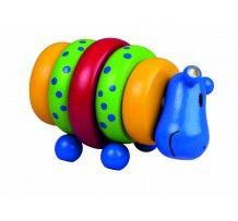 2 off Take Apart Wooden Stacking Toy Hippi Hippopotamus 12 Months by Detoa for sale online
