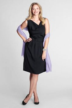 another LBD possibility- Sleeveless Twill Bow Waist Dress from Lands' End