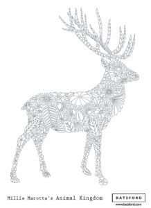 Millie Marotta Stag More Information Animal The Coloring Book