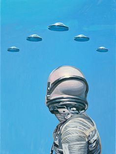 gareth_harrison - astronautdinosaur: Two of my paintings which...