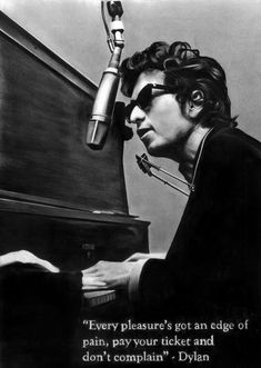 Bob Dylan is cooler than you or me. He is crazier and infinitely more quirky than you or me. he is also the greatest lyricist in music. Bob Dylan Quotes, Bob Dylan Lyrics, Bob Dylan Songs, El Rock And Roll, Blowin' In The Wind, Raining Men, Ringo Starr, Popular Music, Jimi Hendrix